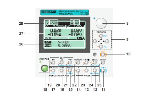 菊水KIKUSUI智能型双极性直流电源PBZ20-20