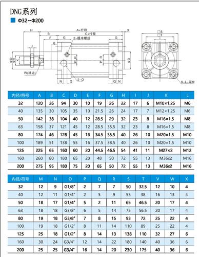 DNG-32x25-FA-S1,双轴气缸